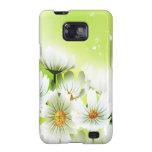 Flores blancas galaxy SII carcasa