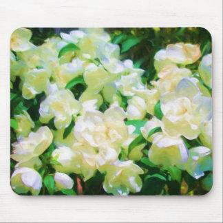 Flores blancas Mousepad