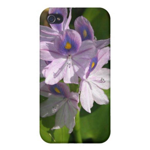 flores blancas púrpuras con los ojos iPhone 4/4S funda