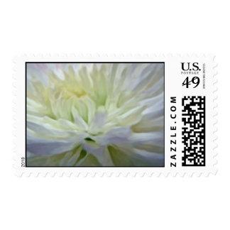 Flores blancas sello