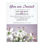 Flores blancos de la cebolleta de ajo en púrpura comunicados