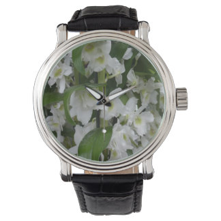 Flores blancos fantásticos relojes de mano