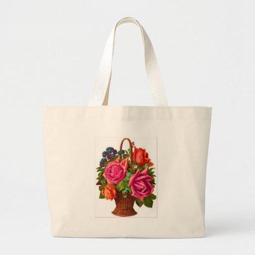 Flores Bolsa Tela Grande