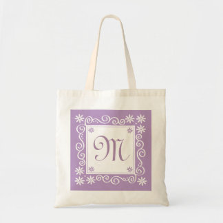 Flores Bolso-Púrpuras del tote con monograma Bolsas