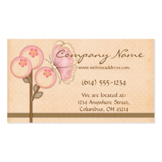 Flores bonitas con la tarjeta de visita banal de l