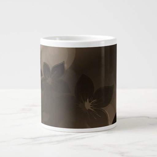 Flores bonitas con las sombras de Brown Tazas Jumbo