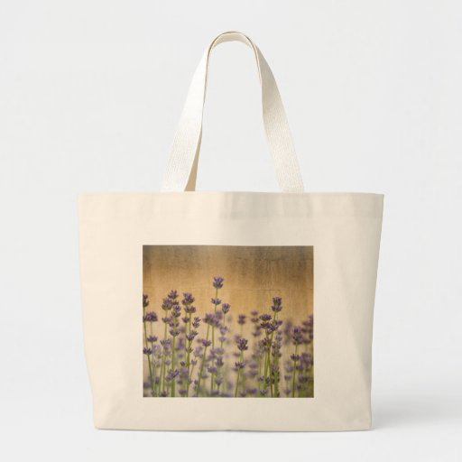 Flores bonitas de la lavanda bolsa de mano