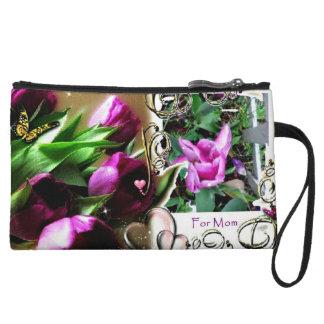 flores bonitas para el bolso del cosmético de la