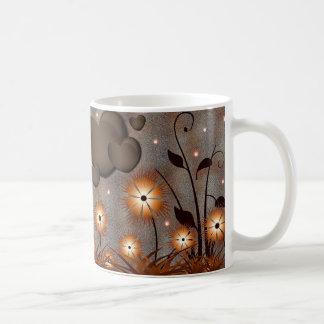 Flores bonitas taza de café