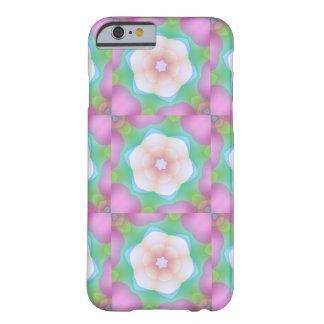 Flores bonitas y caleidoscopio rosado de las funda para iPhone 6 barely there