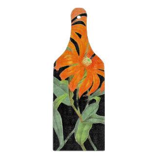 Flores botánicas anaranjadas del vintage tabla para cortar