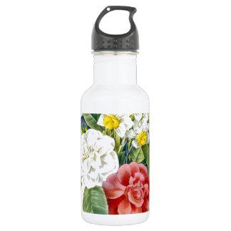 flores botánicas coloridas del vintage por