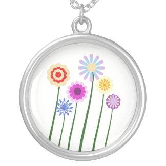 Flores brillantes, coloridas, digitales del arte colgante redondo
