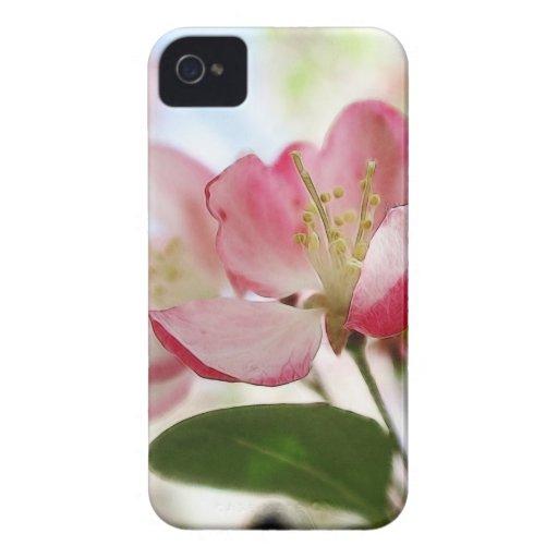 Flores brillantes de Apple de la primavera Case-Mate iPhone 4 Fundas