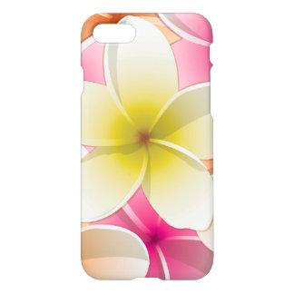 Flores brillantes del Plumeria del Frangipani/ Funda Para iPhone 7