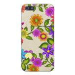Flores brillantes en el iPhone poner crema 4 iPhone 5 Cárcasas