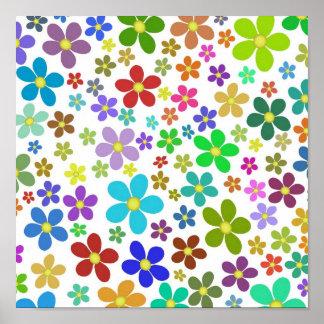 Flores brillantes poster