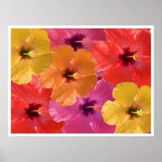 Flores brillantes posters
