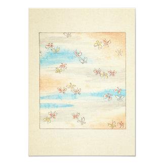"""Flores brumosas de la primavera invitación 4.5"""" x 6.25"""""""