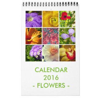 Flores Calendario De Pared