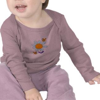 Flores calientes del camisetas del bebé