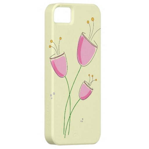 Flores caprichosas de la primavera iPhone 5 Case-Mate carcasa