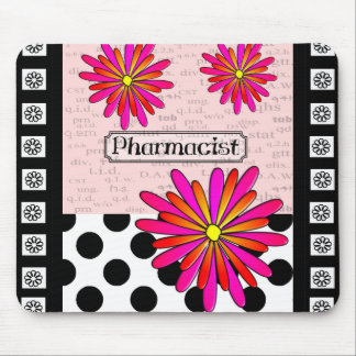 Flores caprichosas del farmacéutico tapete de ratón