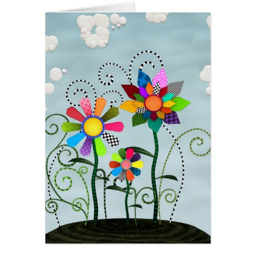 Flores caprichosas felicitacion