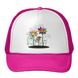 Flores caprichosas gorras de camionero