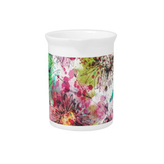 Flores caprichosas jarra para bebida