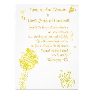 Flores caprichosas que casan la invitación - amari