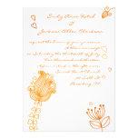 Flores caprichosas que casan la invitación - naran