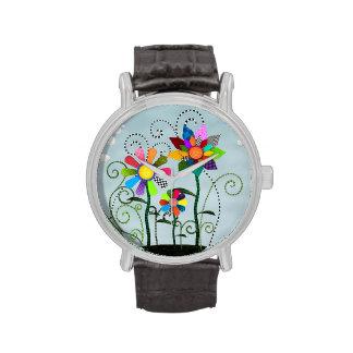 Flores caprichosas relojes