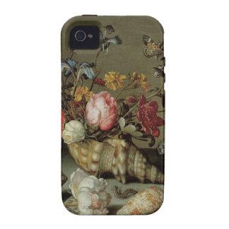 Flores cáscaras e Insects Balthasar van der Ast Case-Mate iPhone 4 Funda