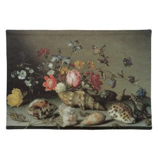 Flores, cáscaras e Insects Balthasar van der Ast Manteles