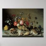 Flores, cáscaras e Insects Balthasar van der Ast Poster