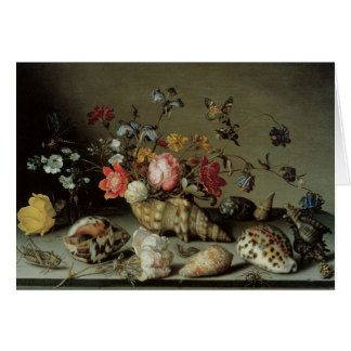 Flores, cáscaras e Insects Balthasar van der Ast Tarjeta De Felicitación