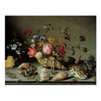 Flores, cáscaras e Insects Balthasar van der Ast Postal
