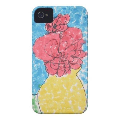 Flores - caso del iPhone 4 iPhone 4 Protectores