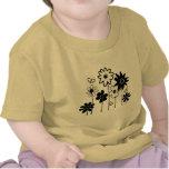 Flores clasificadas enrrolladas lindas con las mar camiseta