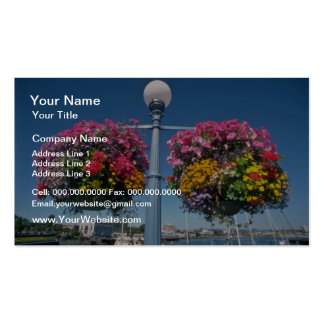Flores colgantes rosadas, flores de Victoria Tarjetas De Visita