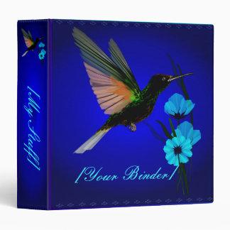 """Flores Colibrí-Azules verdes binder_15_front.v4 Carpeta 1 1/2"""""""