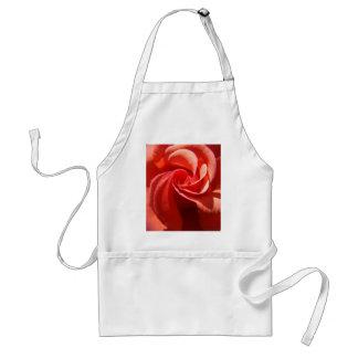 Flores color de rosa anaranjadas de los ROSAS 4 Delantal