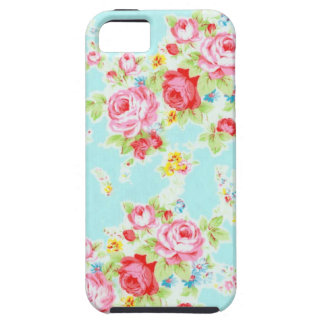 Flores color de rosa azules de los rosas florales iPhone 5 fundas