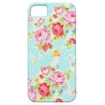 Flores color de rosa azules de los rosas florales funda para iPhone SE/5/5s