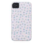 Flores color de rosa azules elegantes lamentables  iPhone 4 cobertura