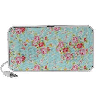 Flores color de rosa elegantes lamentables azules  altavoces de viajar