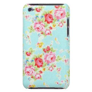 Flores color de rosa elegantes lamentables azules  iPod Case-Mate cárcasa