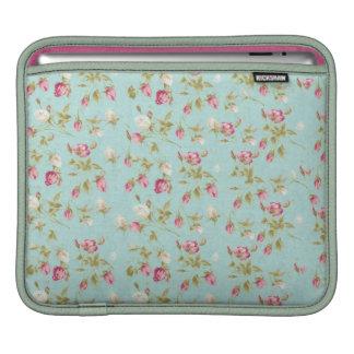 Flores color de rosa elegantes lamentables azules  manga de iPad