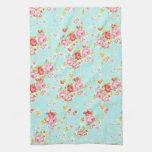 Flores color de rosa elegantes lamentables azules  toalla